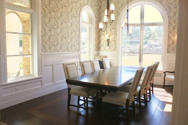 Traditional San Antonio Custom Home - Arch Multi-panel windows