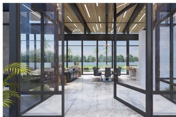 Front Entry | Contemporary Glass Door
