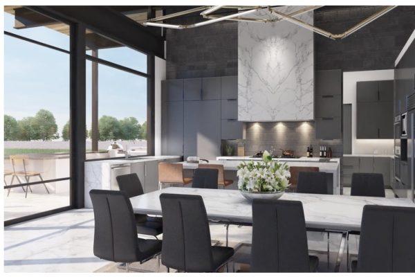 Contemporary Kitchen in San Antonio Custom Home
