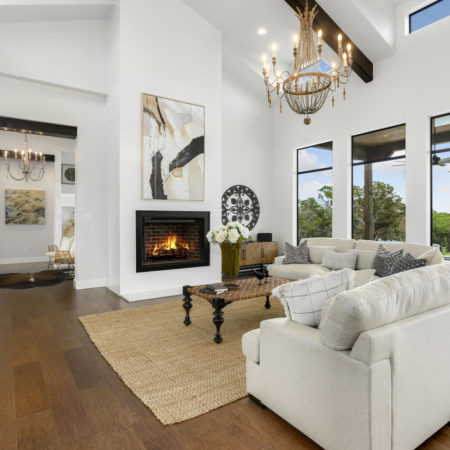 San Antonio Modern Farmhouse Living Room With Natural Light