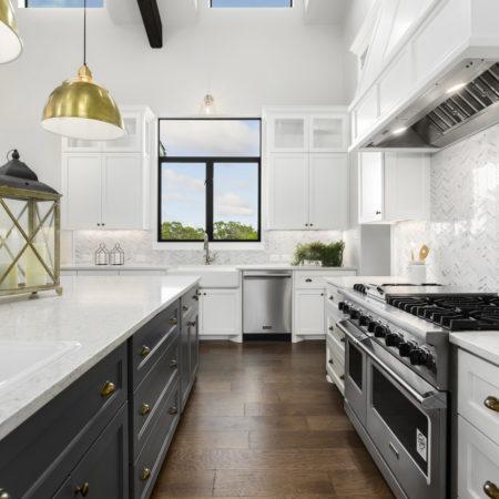 Modern Farmhouse White Kitchen With Window View