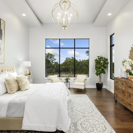 Modern Farmhouse Master Bedroom with Window View