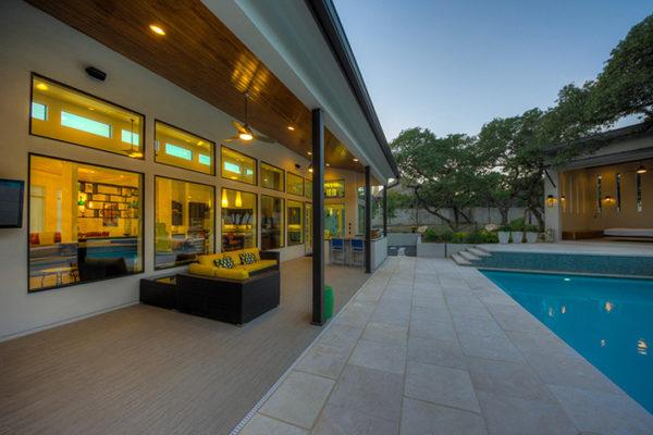 Contemporary Back Patio -Contemporary Sink - San Antonio Custom Home