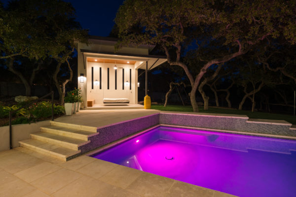 Contemporary Pool Design - San Antonio Custom Home