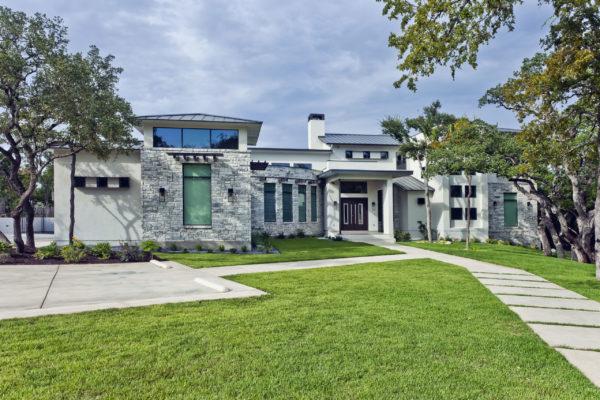 Contemporary Home with Gray Stone - San Antonio Custom Home
