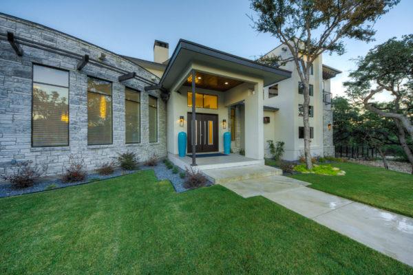 Contemporary Entry - San Antonio Custom Home