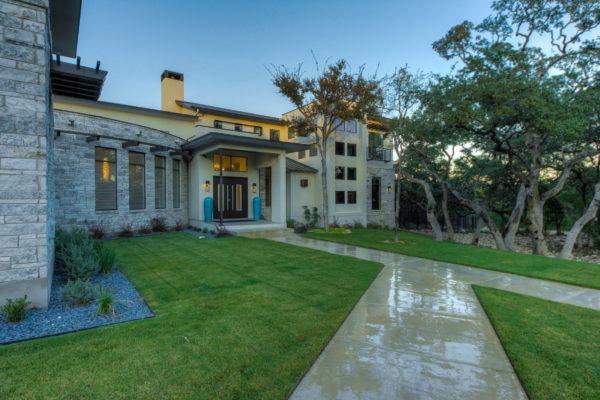 Contemporary Home Entry - San Antonio Custom Home