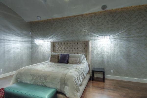 Contemporary Master Bedroom Wallpaper - San Antonio Custom Home