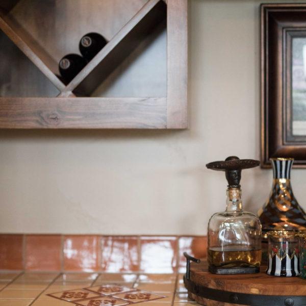 Tuscan Tile Wine Bar in San Antonio Custom Home