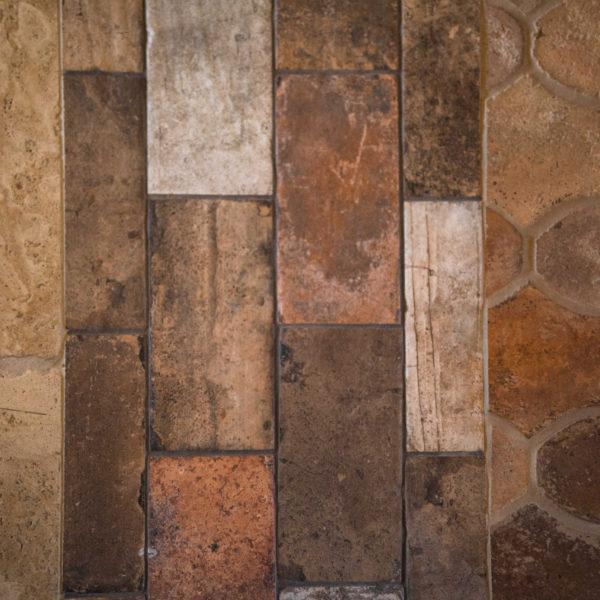 Various Tuscan Tile Flooring in San Antonio Custom Home