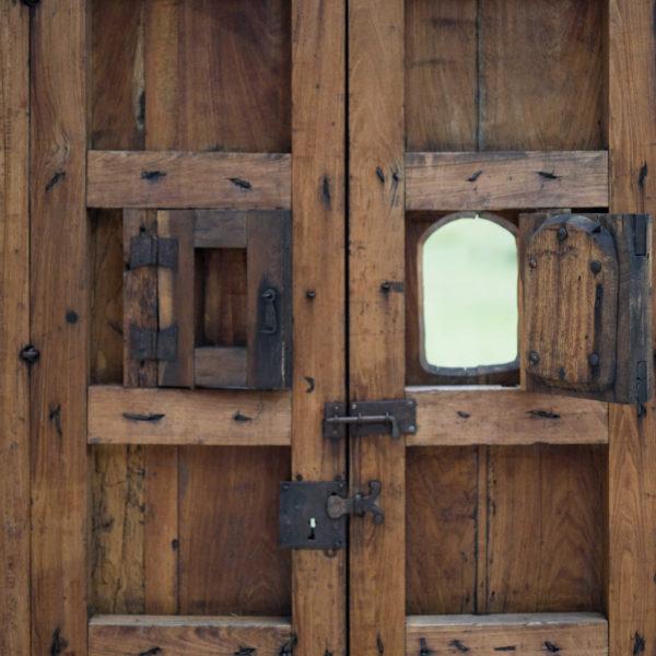 Wooden 4 Slat Exterior Door for San Antonio Custom Home