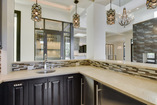 Kitchen Mixed Tile Backsplash in Cordillera Ranch House