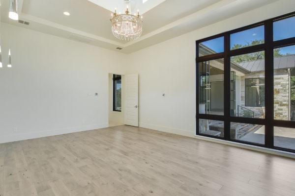 Floor to Ceiling Windows Bedroom of Cordillera Ranch House