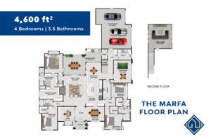 4 Bedroom floor plan for San Antonio Custom Home
