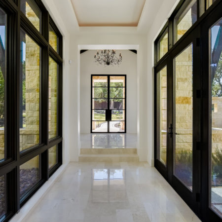 Window-Filled Entry Way in Cordillera Ranch House