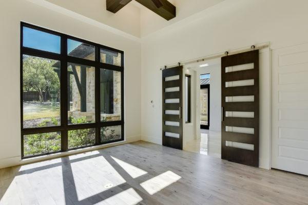 Dark Brown Sliding Bedroom Doors in Cordillera Ranch House