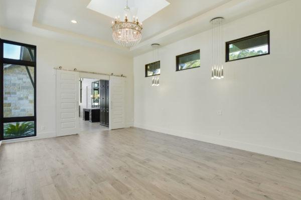 White Sliding doors in Master Bedroom at Cordillera Ranch