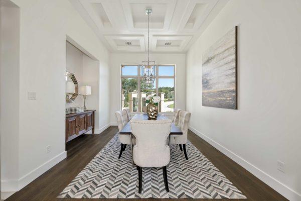 Bright Modern Dining Room in San Antonio Custom Home