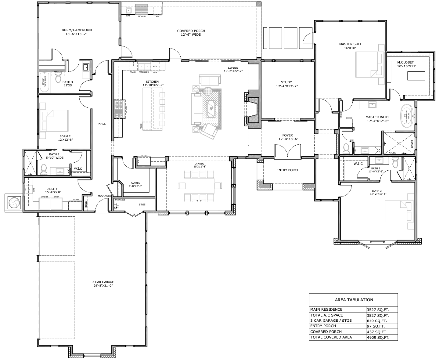 Floor Plan for our Springs at Cordillera Ranch Model Home