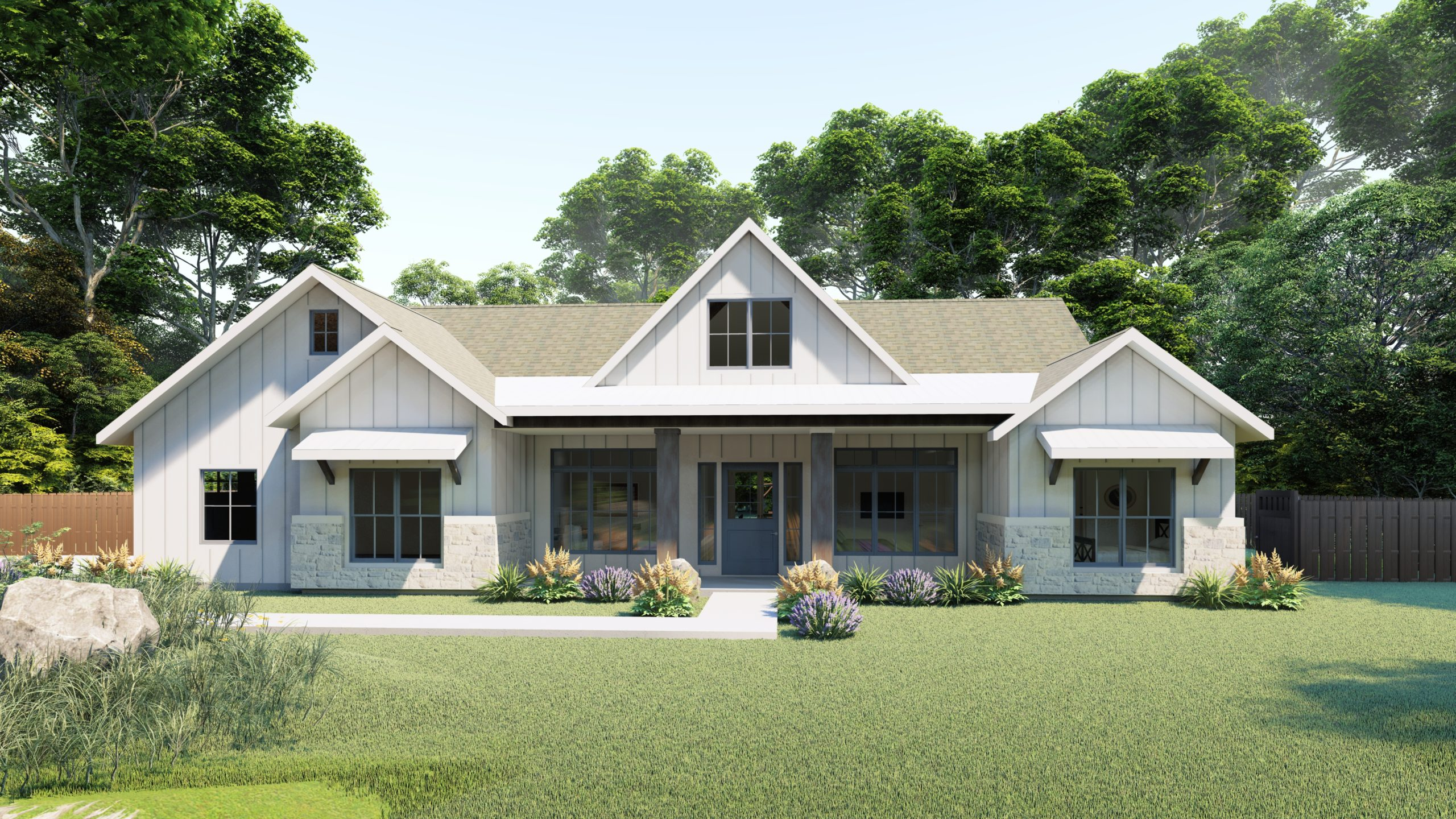 Modern Farmhouse Rendering