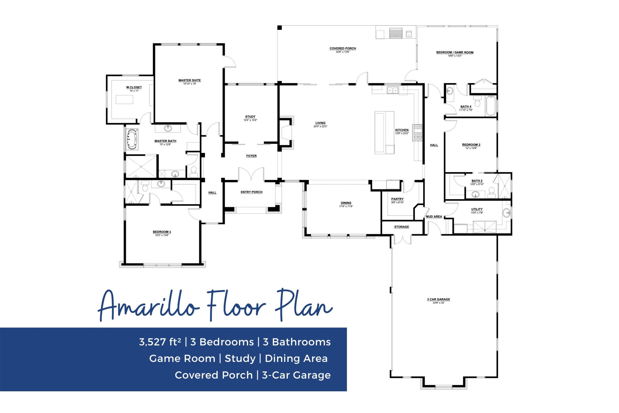 San Antonio Custom Home Builder - Floor Plans