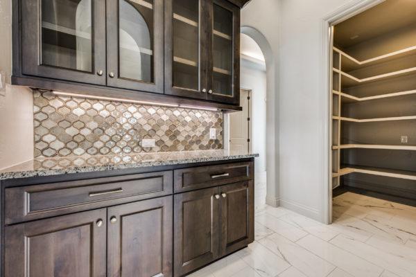 San Antonio Custom Home Builder - Traditional Style Home Kitchen Pantry