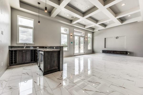 San Antonio Custom Home Builder - Traditional Style Home Media Room