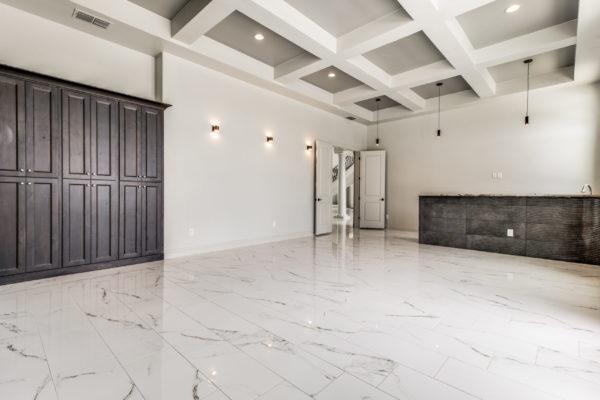 San Antonio Custom Home Builder - Traditional Style Home Game Room