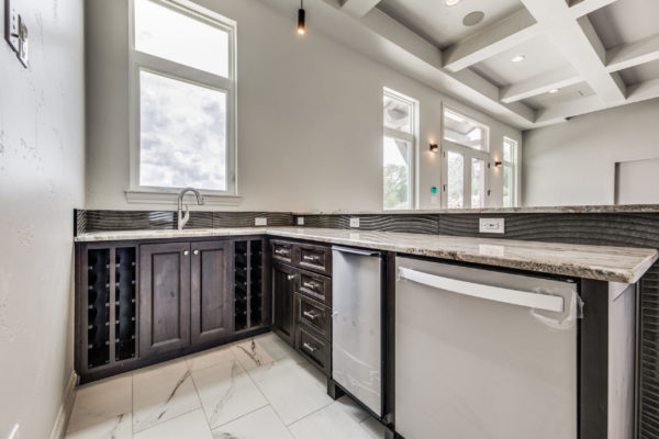 San Antonio Custom Home Builder - Traditional Style Home Game Room Kitchen