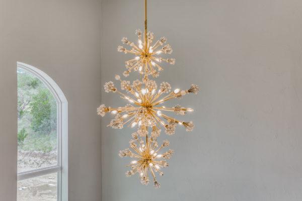 San Antonio Custom Home Builder - High-End Light Fixture - Traditional Style Home