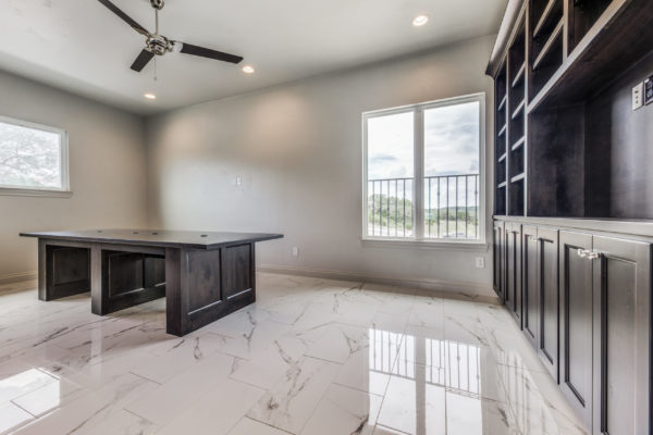 San Antonio Custom Home Builder - Traditional Style Custom Home - Office
