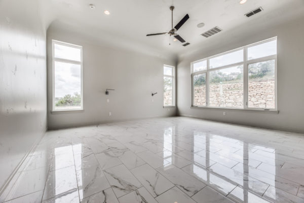 San Antonio Custom Home Builder - Traditional Style Custom Home - Master Bedroom