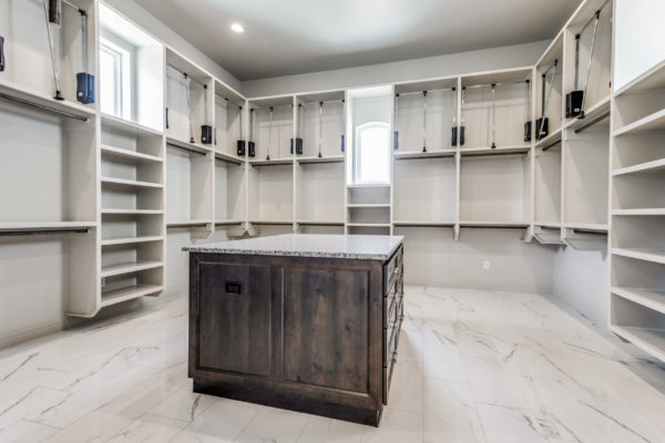 San Antonio Custom Home Builder - Traditional Style Custom Home - Master Closet