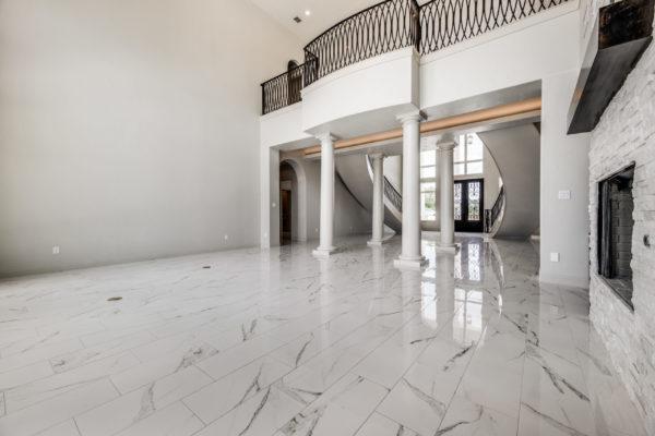 San Antonio Custom Home Builder - Traditional Style Home Living Room